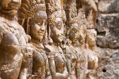 吴哥窟,柬埔寨雕象  免版税库存照片