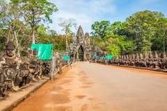 吴哥窟,柬埔寨, 12月15,2013 :吴哥窟寺庙在Cambod 库存图片