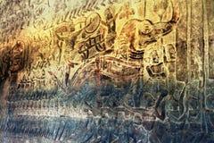 吴哥窟-世界的7奇迹之一,柬埔寨 免版税库存照片
