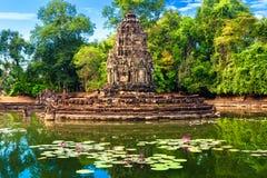 吴哥窟-在暹粒,柬埔寨附近的联合国科教文组织世界遗产名录站点 库存图片