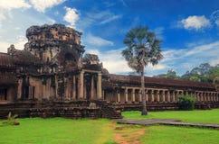 吴哥窟-巨型印度寺庙复合体在柬埔寨 免版税图库摄影