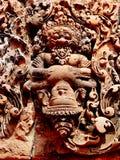 吴哥窟- Banteay Srei寺庙 免版税库存照片