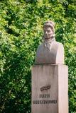 哥罗德诺,比拉罗斯 对艾丽查・奥若什科娃的纪念碑 免版税库存图片