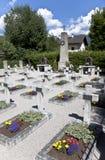 哥萨克坟园在Peggetz,利恩茨,奥地利 库存照片