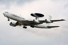 哨兵北约雷达飞机 免版税库存照片