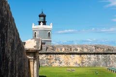 哨兵塔,卡斯蒂略del Morro 库存照片
