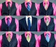 哪些领带配比最好 图库摄影