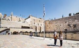 哭墙在老城耶路撒冷 免版税图库摄影