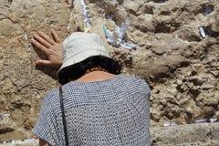 哭墙的,以色列犹太妇女 免版税库存照片
