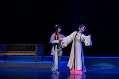 """哭泣的劫掠的这紫色簪子--江西linchuan† opera""""four梦想  库存照片"""