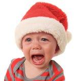 哭泣的圣诞老人 库存照片
