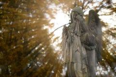 哭泣的天使 图库摄影