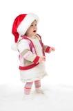 哭泣的女孩圣诞老人 免版税库存图片