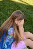哭泣的女孩少许 库存照片