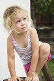 哭泣的女孩少许 库存图片