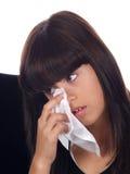 哭泣的女孩年轻人 库存图片