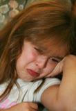 哭泣的女孩年轻人 图库摄影
