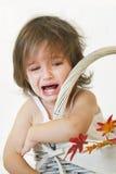 哭泣的女孩 库存图片