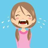 哭泣的女孩 免版税库存图片