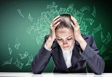 哭泣的女实业家 免版税库存图片