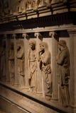 哭泣的妇女的石棺 图库摄影