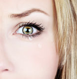 哭泣的妇女 库存图片
