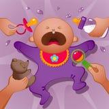 哭泣的婴孩 免版税库存照片