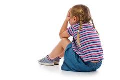 哭泣的小女孩 免版税图库摄影