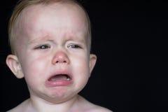 哭泣的小孩 库存照片