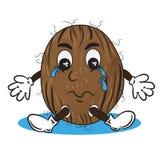 哭泣的椰子的传染媒介例证 免版税库存图片