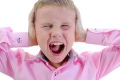 哭泣的男孩 免版税图库摄影