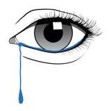 哭泣的眼睛 免版税库存照片