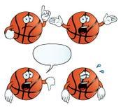 哭泣的篮球集合 库存例证