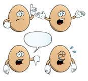 哭泣的蛋集合 向量例证