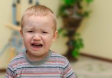 哭泣的婴孩 免版税图库摄影