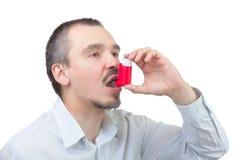 哮喘疗程。 库存图片