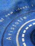 哲学家亚里斯多德名字 免版税库存照片