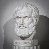 哲学家亚里斯多德雕塑 免版税图库摄影