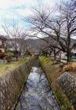 哲学家的步行在京都,日本 库存照片