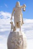 哲学家第欧根尼雕塑 库存照片