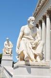 哲学家雕象 库存图片