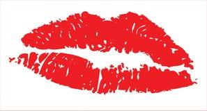 嘴唇红色例证 免版税库存照片