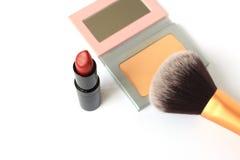 唇膏和面粉 库存图片