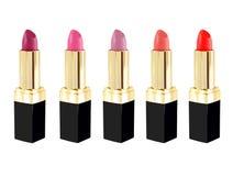 唇膏用不同的颜色 免版税库存照片