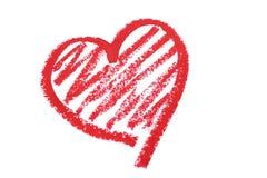 唇膏画的心脏 库存图片