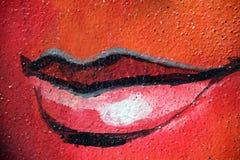 嘴唇颜色背景 库存照片