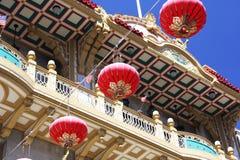 唐人街中国人灯笼 免版税库存图片