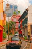 唐人街区在新加坡 免版税库存照片