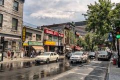 唐人街圣劳伦特街道 免版税库存图片