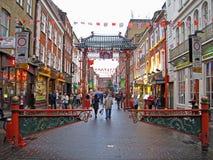 唐人街在伦敦 免版税图库摄影